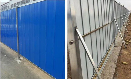 Durable Temporary Hoarding Panels , Steel Hoarding Panels With ISO9001
