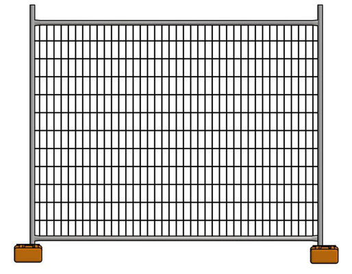 Galvanized Construction Site Australian Temporary Fencing Panels Low Carbon Steel Q235