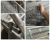 Hot Dipped Galvanized Temporary Chain Link Fence , Chain Link Construction Fence