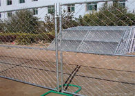 Professional Temporary Chain Link Fence Galvanized Wire ISO9001 CE Listed