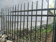 China Modern ASTM A -653 Steel Picket Fence Galvanized And Powder Coated Black company
