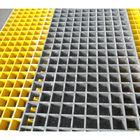 China Yellow Fiberglass Reinforced Grating FRP Flooring Decking Walkways 1 Year Service company