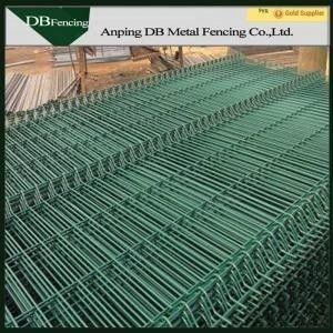 Spray Coating Welded Wire Fence 3D Panel , Security Metal Wire Fence Panels