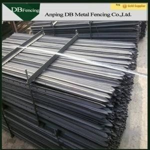 Bitumen / Galvanized Steel Star Pickets Y Post UV Resistance Easily Assembled