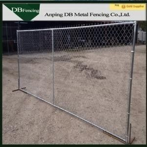Portable Security Chain Link Fence / Temporary Fencing For Building Sites