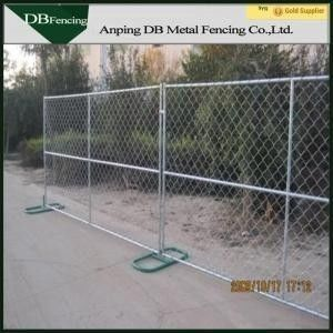 Temporary Chain Link Construction Fence , Non Permanent Fence For Dogs