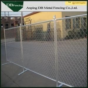 Outdoor Chain Link Movable Fence Panels , Temporary Safety Barrier Fencing