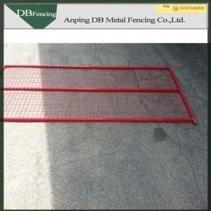 Red Color Portable Canada Temporary Fence Powder Coated For Construction Protection