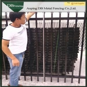 Antique Wrought Iron Fence Panels , Wrought Iron Privacy Fence Aging - Resistant