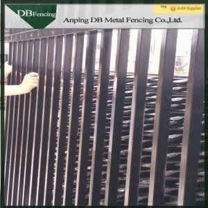 Residential / Commercial Steel Picket Fence Wrought Iron Railing Fence Waterproof