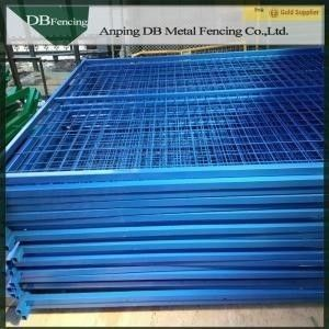 Powder Coated Temporary Steel Fencing , Temporary Construction Fence Panels