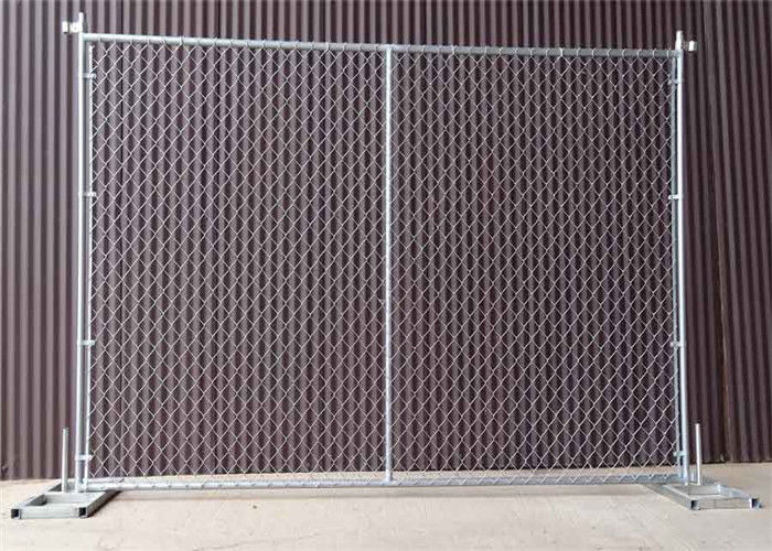Temporary Portable Chain Link Fence Panels 6ft X 12ft Hot Dipped Galvanized Finish