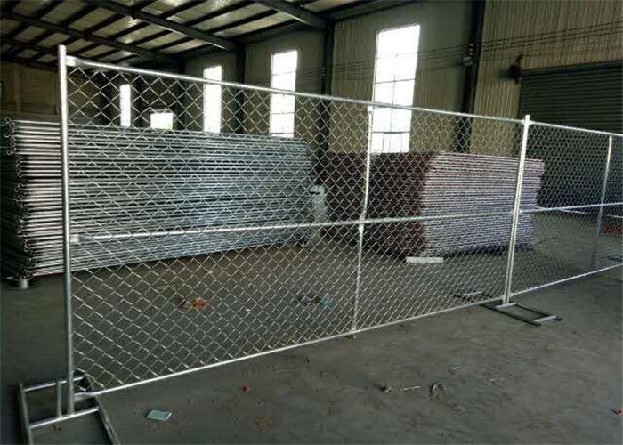 6 Foot / 10 Foot / 12 Foot Temporary Chain Link Fence Low Carbon Steel Q235 Material