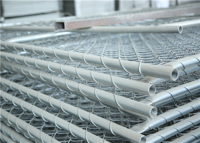 Hot Dipped Galvanized Temporary Chain Link Fence / Construction Site Fence 6'X12'