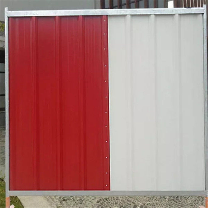 ISO9001 Steel Temporary Site Hoarding Fence Panels In Construction Sites