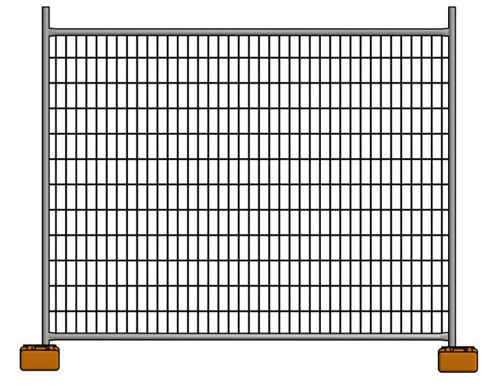 Outdoor Portable Residential Australian Temporary Fencing 2.1x2.4m Movable