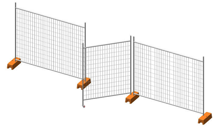 Residential Hot Dipped Galvanized Temporary Yard Fence With Long Life Time