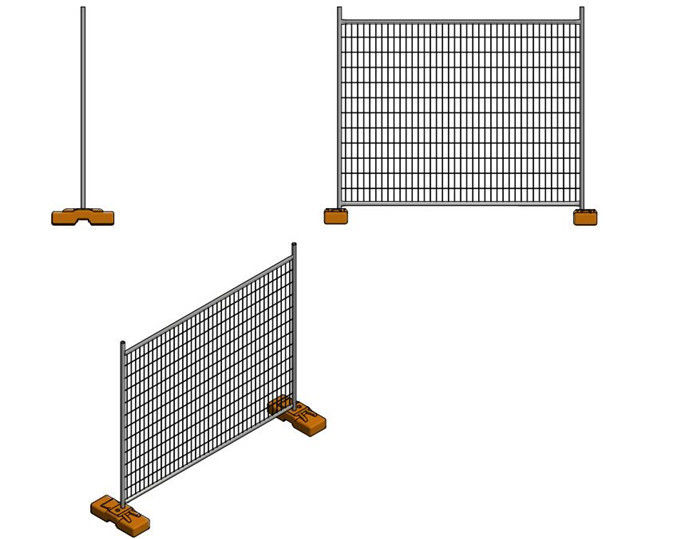 Galvanized AS 4687-2007 Temporary Security Fencing Panels For Building Site