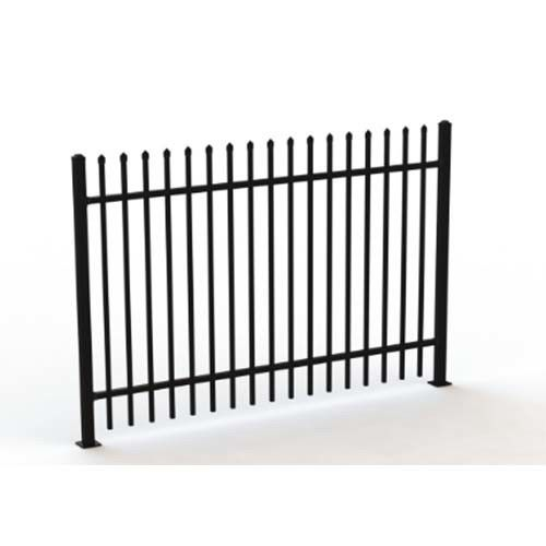 Galvanised Square Steel Tubular Picket Fence For Schools And Kindergarden