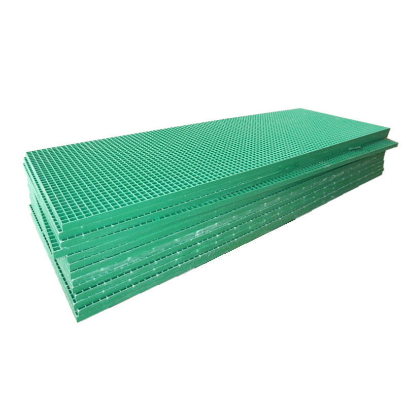 Green Fibreglass Grating / FRP Grating For Chemical Industry , Power Plant