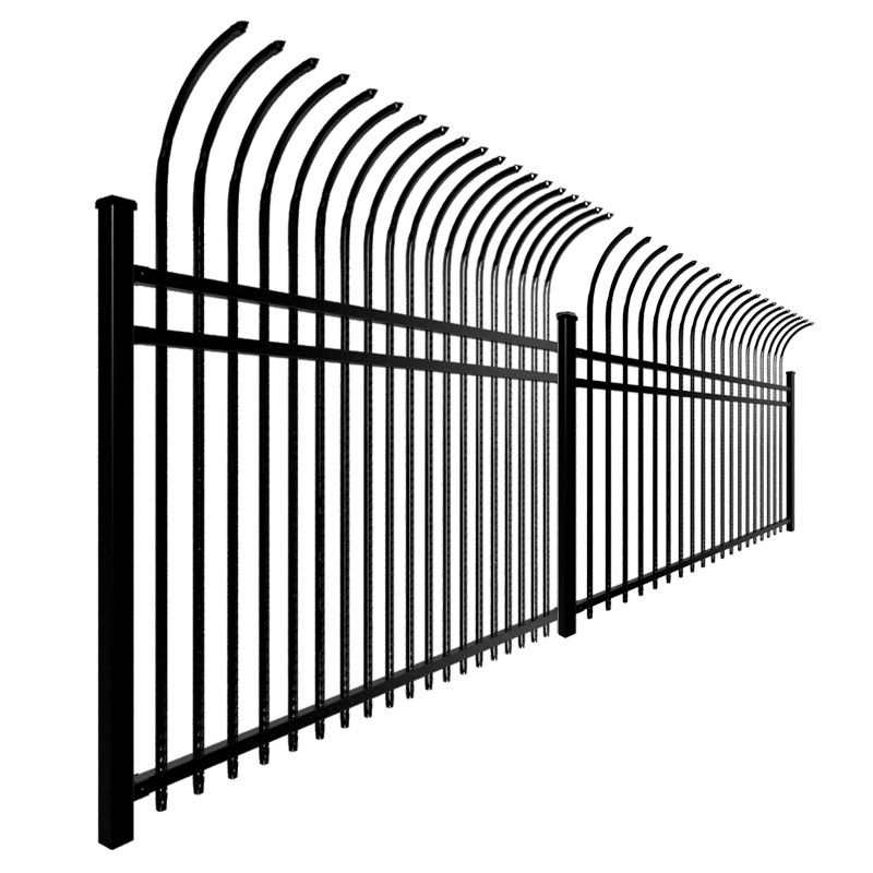 Security 1.8m 2.1m Welded Ornamental Steel Picket Fence