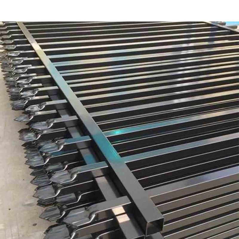 PVC Coated Ornamental Galvanized Steel Picket Fence