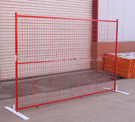 Galvanized Road Closure Removable Canada Temporary Fence