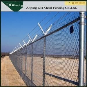 China Chain Link Temporary Fence Barriers For Light Residential / Heavy Commercial Area factory