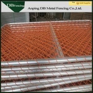 Waterproof Chain Link Yard Fencing , High Visibility Temporary Event Fencing