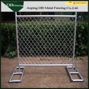 High Strength Temporary Chain Link Fence , Steel Chain Link Security Fence