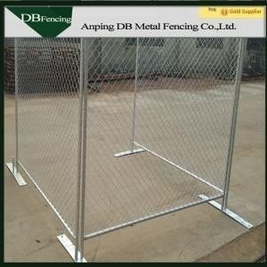 Temporary Galvanized Chain Link Fence / Construction Barrier Fence Free Standing