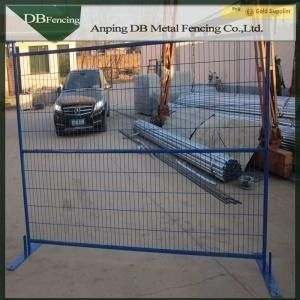 China Multi Colored Temporary Yard Fence / Building Site Fencing Canada Standard factory