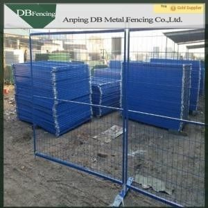 Powder Coated Temporary Garden Fencing Corrosion Resisting For Crowd Control