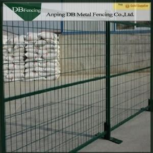 Powder Coated Steel Temporary Construction Fence 6'X10' Weather - Resisting
