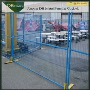 Steel Wire Temporary Construction Site Fence Panels , Temp Security Fencing