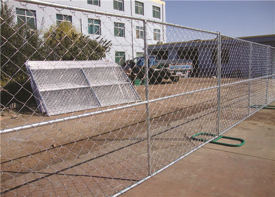 Freestanding 6ft Chain Link Fence Panels , Mobile Portable Chain Link Fence