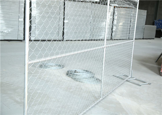 Durable Temporary Construction Fence , Portable Chain Link Fence For Municipalities / Schools