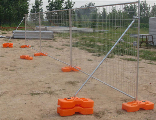 Durable Modular Australian Temporary Fencing On Construction Site 2.1m X 2.4m