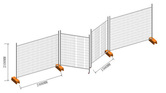 Security Durable Temporary Dog Fence In Australia , Temporary Construction Fence