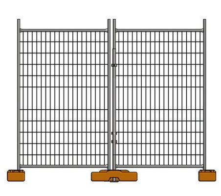 China Metal Tube Event Australian Temporary Fencing For Construction With Frame factory