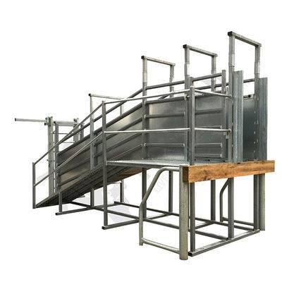 3242x2850x750mm Size Portable Cattle Ramp Option Safety Walk Way 50x50mm Frame Tube