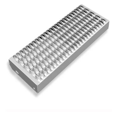 Perforated Galvanized Grip Strut Grating Stair Treads Non Slip Metal Sheet