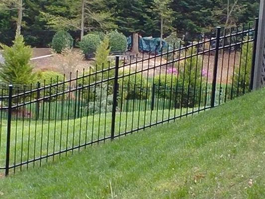 Galvanized Mountains Slopes Decorative Picket Fence