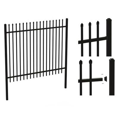 Backyard Powder Coated Wrought Steel Picket Fence