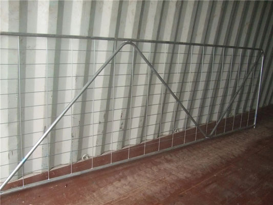 HDG 42 Microns Iron Galvanized 16ft Wire Mesh Fence Gate