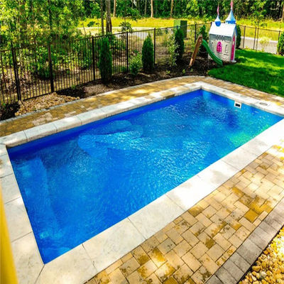 "L25′ X W12′ X H4′6"" Gelcoat Resin Fiberglass Swimming Pool"