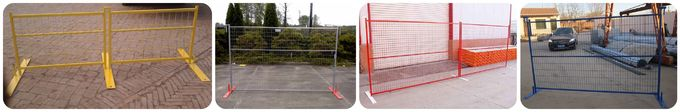 6'x10' Powder Coated Portable Temporary Steel Construction used fence