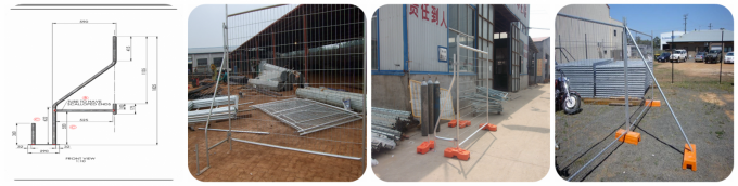 Australia standard hot-galvanized temporary fence