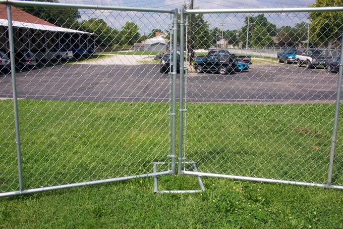 Security 6'X12' Steel Chain Link Fence , Temporary Construction Fencing