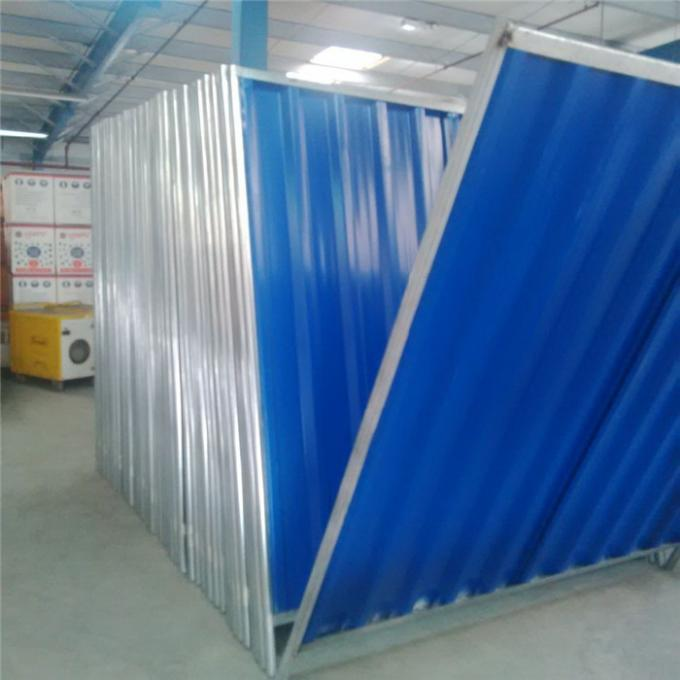 Blue Color of Temporary Hoarding Panels
